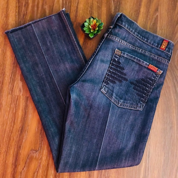 7 For All Mankind Denim - 7FAM Collette Raw Hem Jeans Size 31